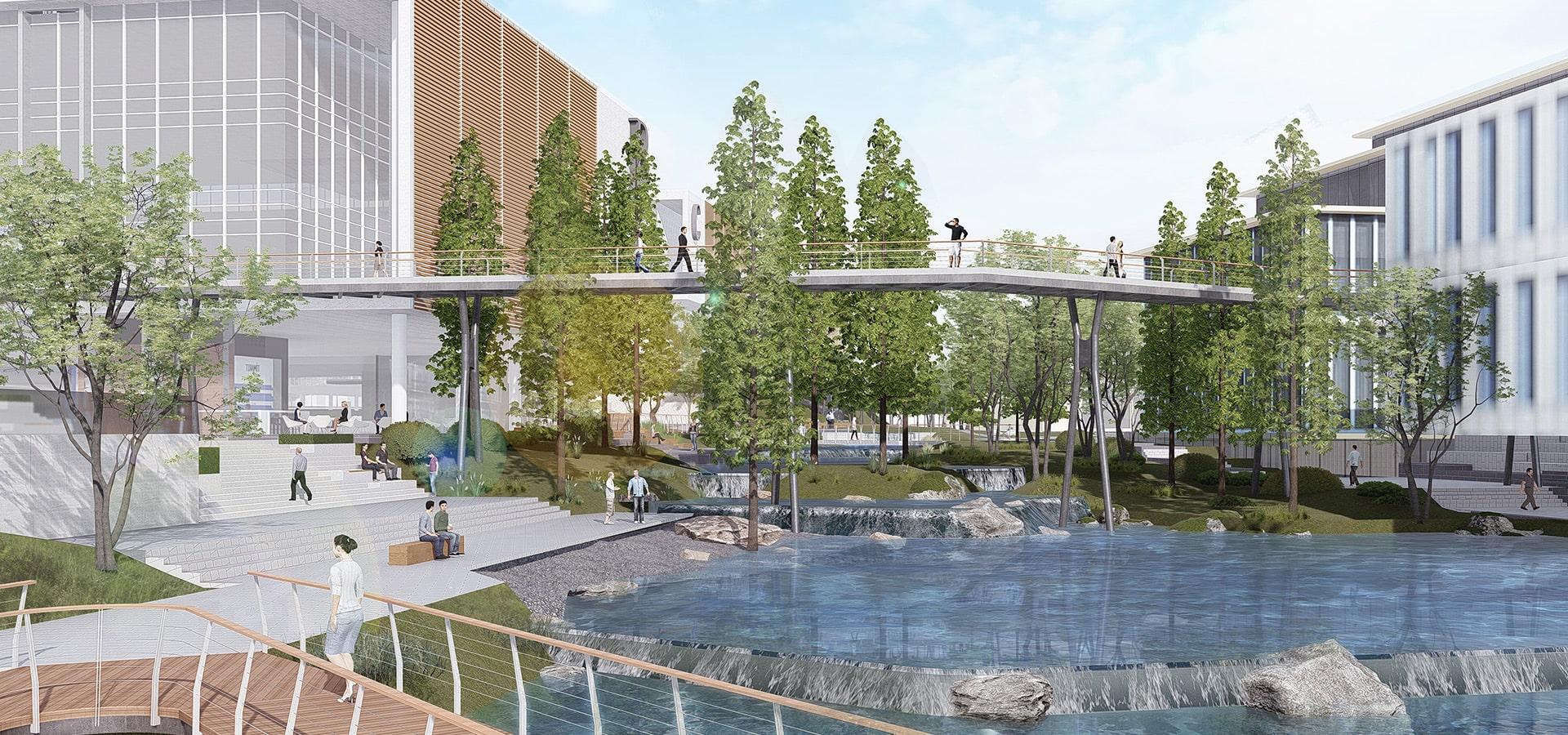 拥抱自然的多元活力综合园区——<br>长沙爱尔国际眼健康科技产业园
